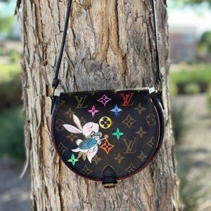 🎄💥Art💥🎄LOUIS VUITTON Tambourine Crossbody Bag